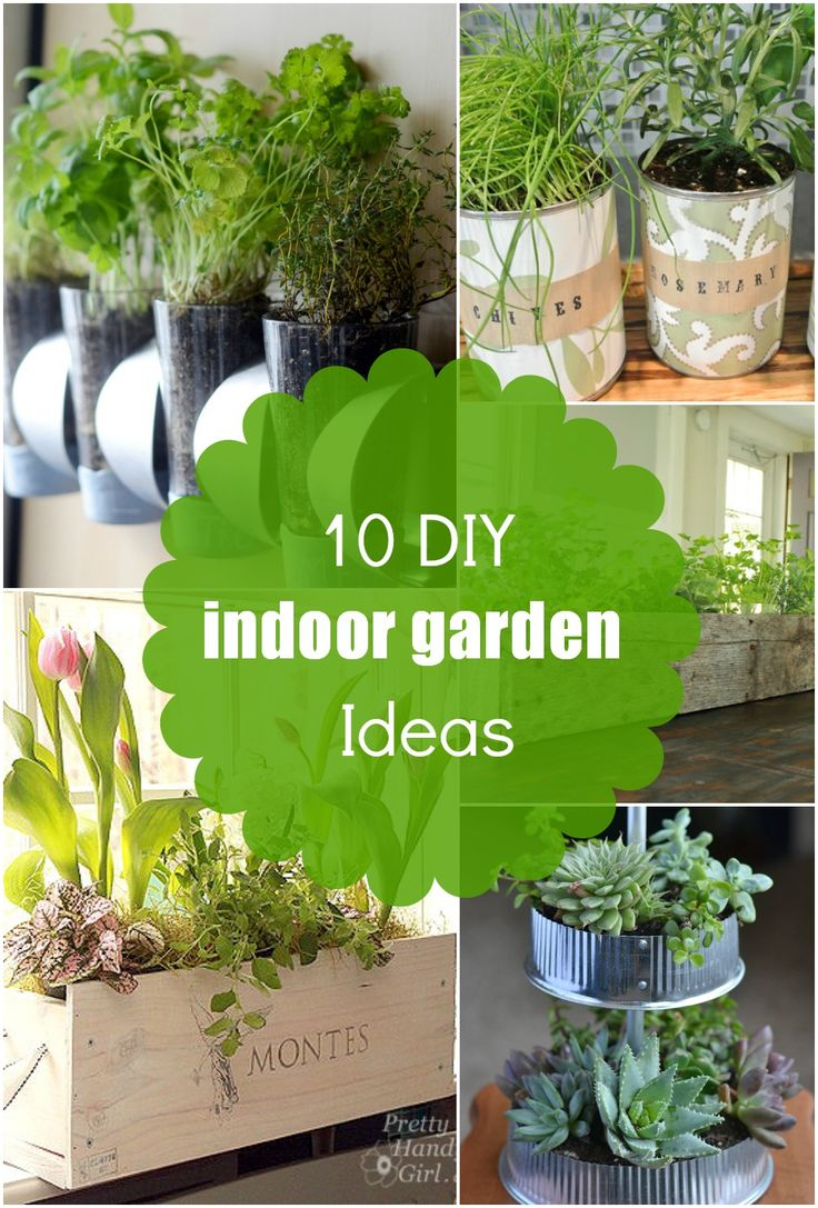 10 DIY Indoor Planter and Herb Garden Ideas | Countertop Garden